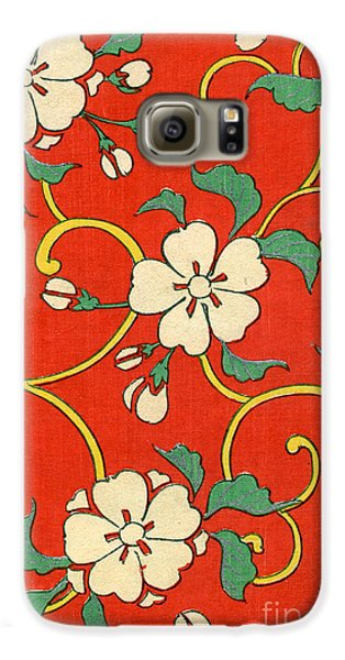 Woodblock Print Of Apple Blossoms Galaxy S6 Case by Japanese School