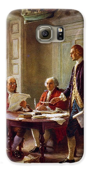 Writing The Declaration Of Independence, 1776, Galaxy S6 Case by Leon Gerome Ferris