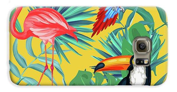 Yellow Tropic  Galaxy S6 Case by Mark Ashkenazi