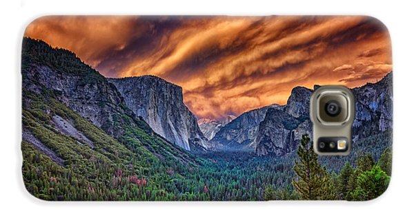 Yosemite Fire Galaxy S6 Case by Rick Berk