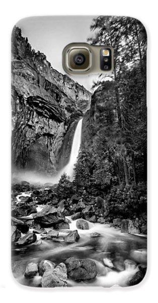 Yosemite Waterfall Bw Galaxy S6 Case by Az Jackson