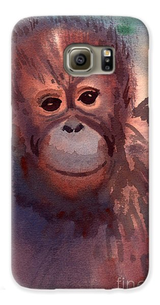 Young Orangutan Galaxy S6 Case by Donald Maier