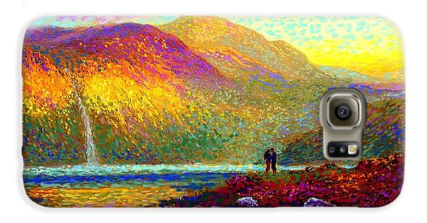 Your Love Colors My World, Modern Impressionism, Romantic Art Galaxy S6 Case by Jane Small