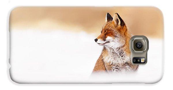 Zen Fox Series - Zen Fox In Winter Mood Galaxy S6 Case by Roeselien Raimond