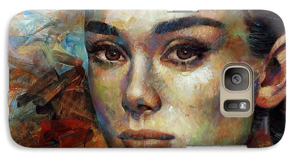 Audrey Hepburn Galaxy Case by Arthur Braginsky
