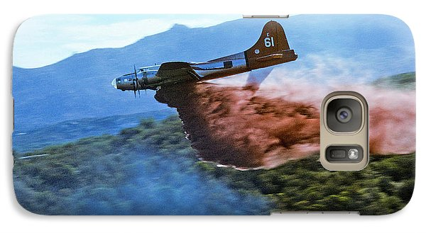Galaxy Case featuring the photograph  B-17 Air Tanker Dropping Fire Retardant by Bill Gabbert