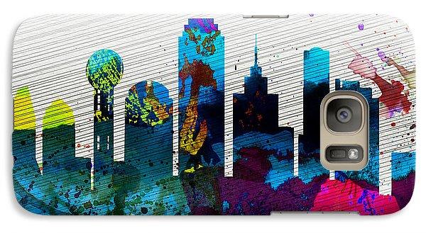 Dallas City Skyline Galaxy S7 Case by Naxart Studio