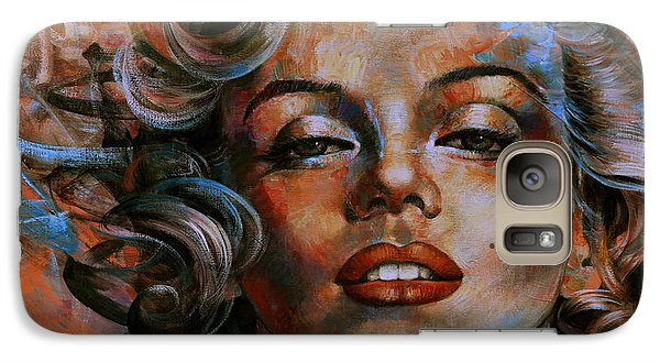 Marilyn Monroe Galaxy S7 Case by Arthur Braginsky