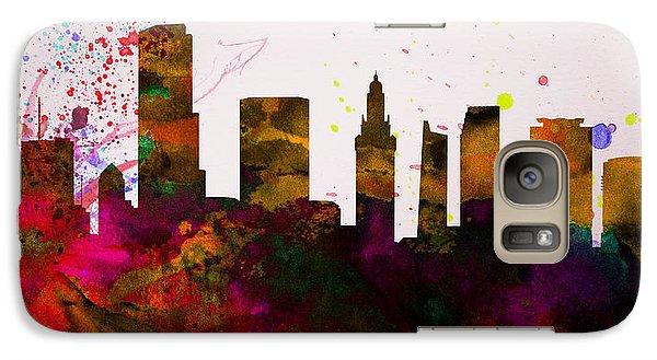Miami City Skyline Galaxy S7 Case by Naxart Studio