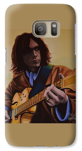Neil Young Painting Galaxy S7 Case by Paul Meijering