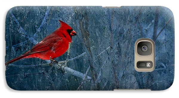 Northern Cardinal Galaxy S7 Case by Thomas Young