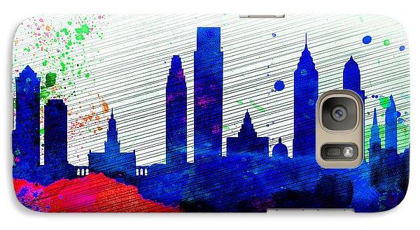 Philadelphia City Skyline Galaxy S7 Case by Naxart Studio