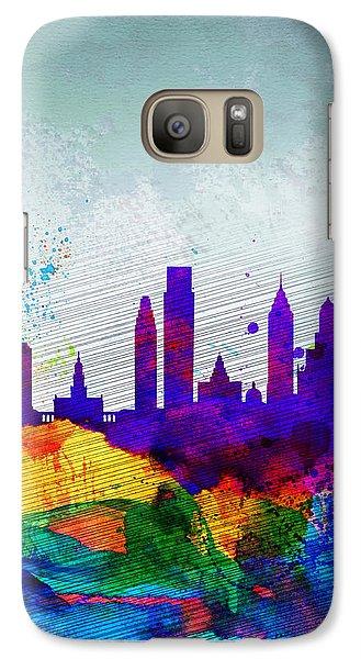 Philadelphia Watercolor Skyline Galaxy S7 Case by Naxart Studio