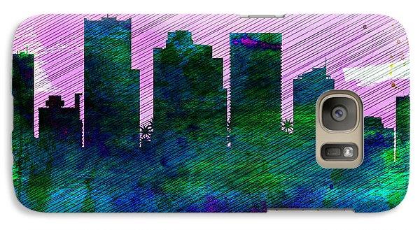 Phoenix City Skyline Galaxy S7 Case by Naxart Studio