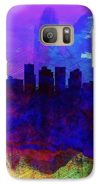 Phoenix Watercolor Skyline 1 Galaxy Case by Naxart Studio