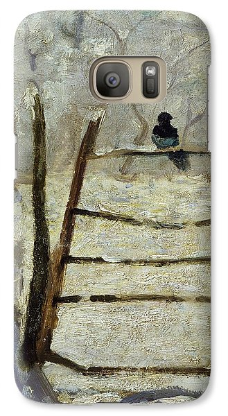 The Magpie Galaxy S7 Case by Claude Monet