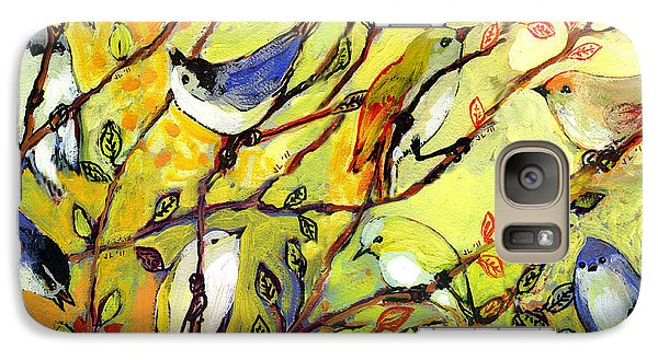 16 Birds Galaxy Case by Jennifer Lommers