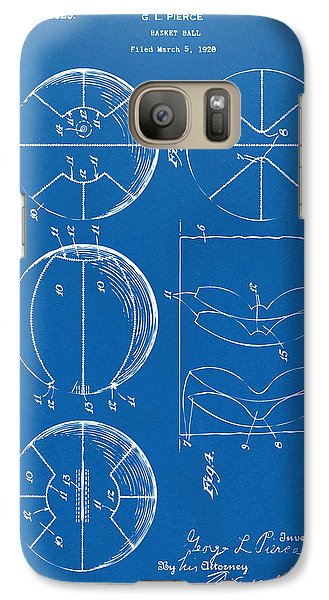 1929 Basketball Patent Artwork - Blueprint Galaxy S7 Case by Nikki Marie Smith