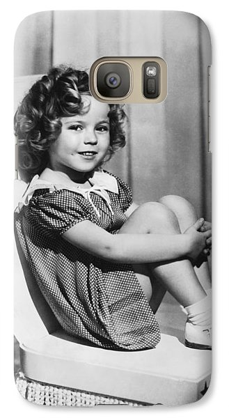 Actress Shirley Temple Galaxy S7 Case by Underwood Archives