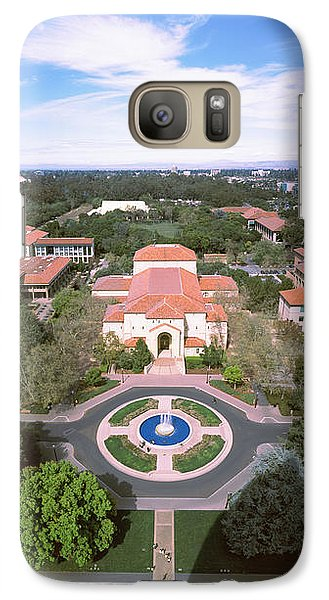 Aerial View Of Stanford University Galaxy S7 Case by Panoramic Images