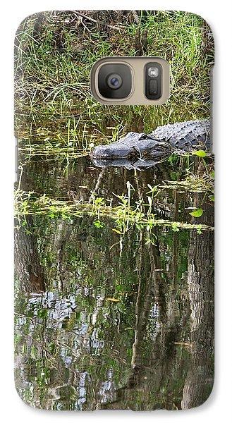 Alligator In Swamp Galaxy S7 Case by Jim West