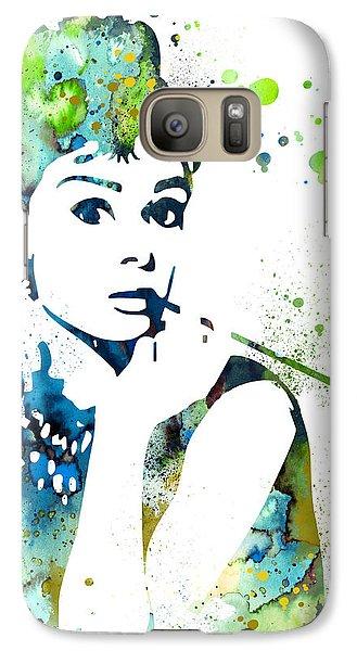 Audrey Hepburn  Galaxy Case by Luke and Slavi