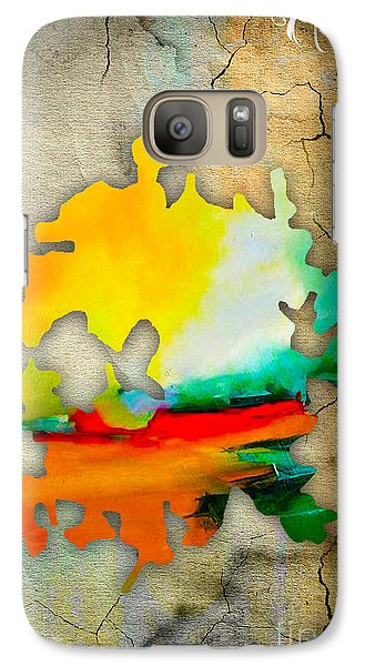 Austin Map Watercolor Galaxy Case by Marvin Blaine