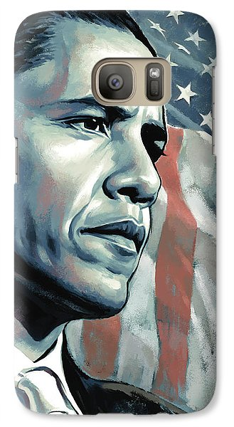 Barack Obama Artwork 2 Galaxy S7 Case by Sheraz A