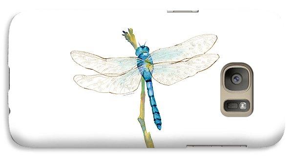Blue Dragonfly Galaxy Case by Amy Kirkpatrick