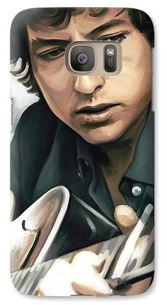 Bob Dylan Artwork Galaxy S7 Case by Sheraz A
