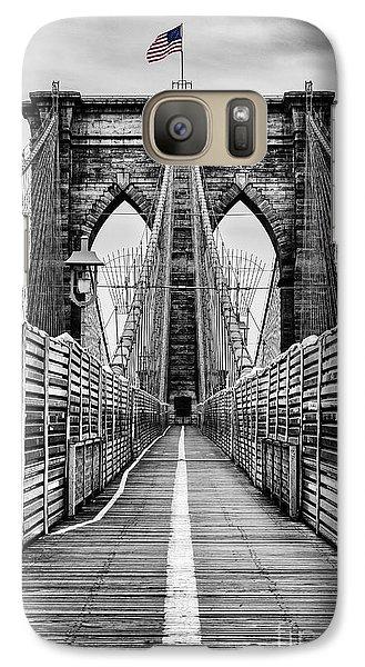 Brooklyn Bridge Galaxy Case by John Farnan