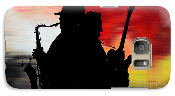 Bruce Springsteen Clarence Clemons Galaxy S7 Case by Marvin Blaine