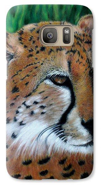 Cheetah Galaxy Case by Carol McCarty