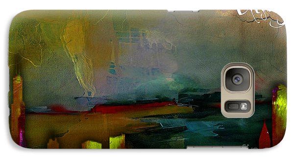 Chicago Skyline Watercolor Galaxy Case by Marvin Blaine