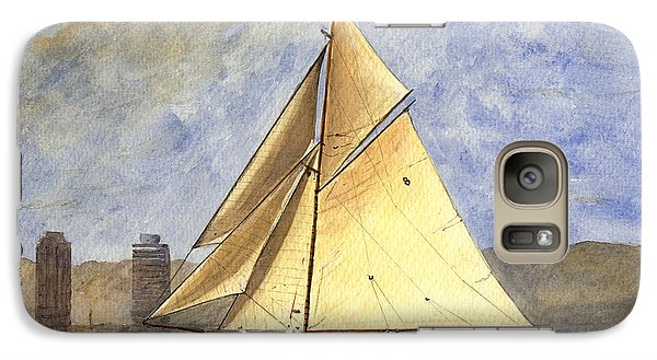 Classic Yacht Barcelona Galaxy Case by Juan  Bosco