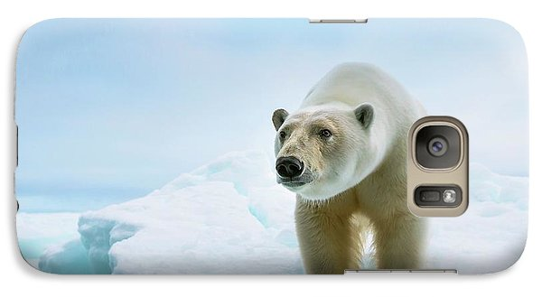 Close Up Of A Standing Polar Bear Galaxy S7 Case by Peter J. Raymond