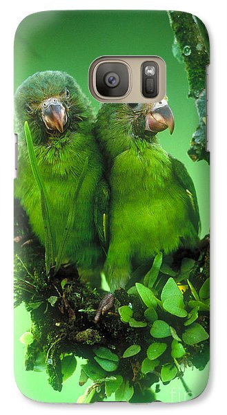Cobalt-winged Parakeets Galaxy S7 Case by Art Wolfe
