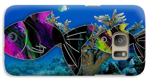 Coral Reef Painting Galaxy Case by Marvin Blaine