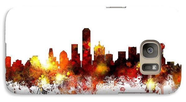 Dallas Texas Skyline Galaxy S7 Case by Michael Tompsett