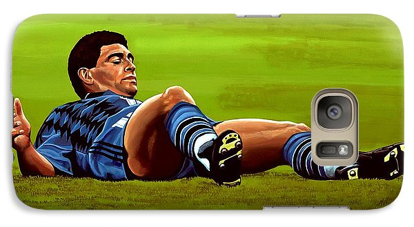 Diego Maradona Galaxy Case by Paul Meijering