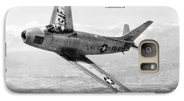 Galaxy Case featuring the photograph F-86 Sabre, First Swept-wing Fighter by Science Source