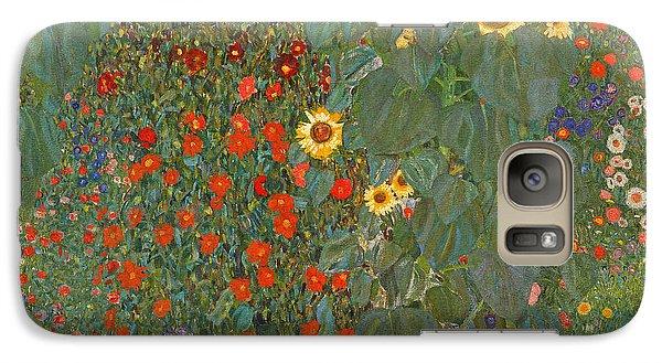 Farm Garden With Sunflowers Galaxy S7 Case by Gustav Klimt