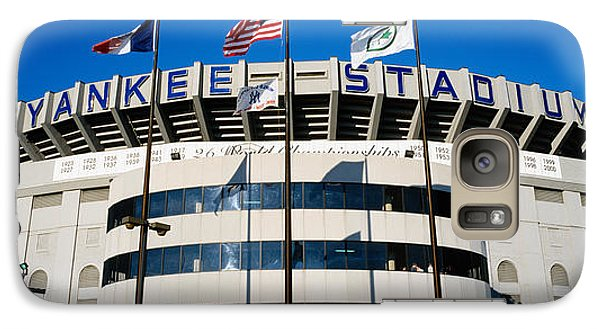 Flags In Front Of A Stadium, Yankee Galaxy S7 Case by Panoramic Images