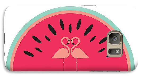 Flamingo Watermelon Galaxy Case by Susan Claire