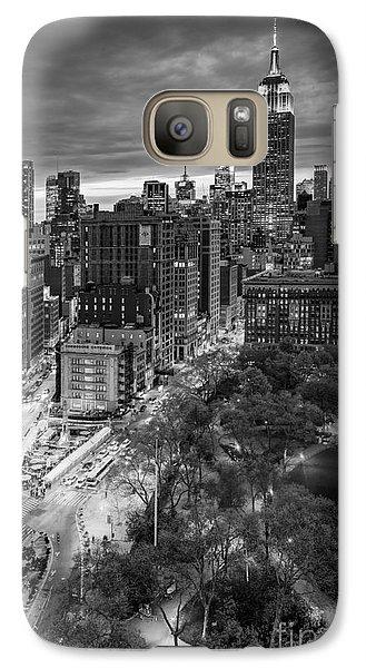 Flatiron District Birds Eye View Galaxy S7 Case by Susan Candelario