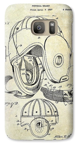 Football Helmet Patent Galaxy S7 Case by Jon Neidert