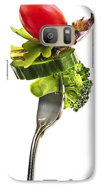 Fresh Vegetables On A Fork Galaxy Case by Elena Elisseeva
