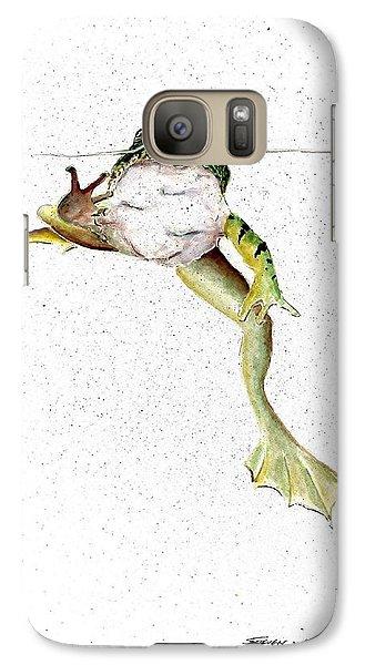 Frog On Waterline Galaxy Case by Steven Schultz