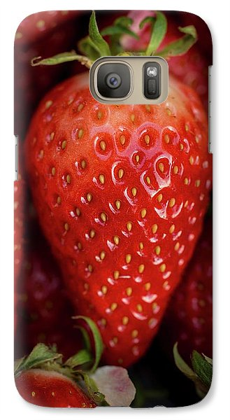Gariguette Strawberries Galaxy S7 Case by Aberration Films Ltd