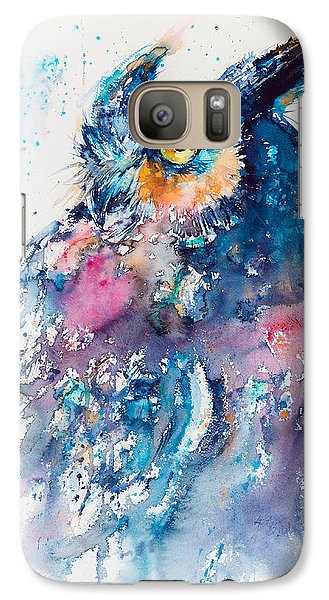 Great Horned Owl Galaxy S7 Case by Kovacs Anna Brigitta
